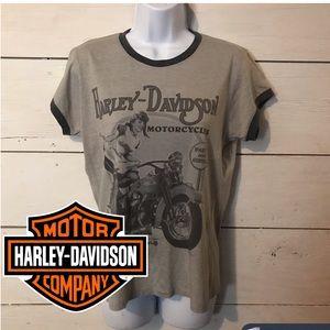 Harley Davidson Heather Grey Motorcycle T-shirt 2X